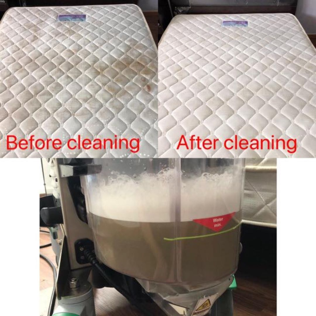 mattress cleaning before and after work