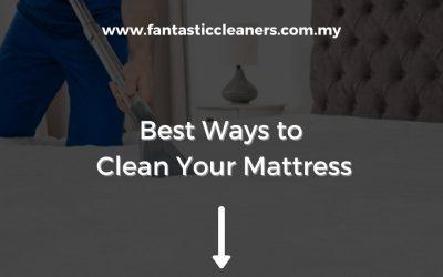 Best Ways to Clean Your Mattress