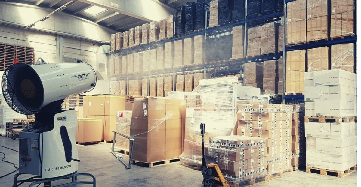 warehouse disinfection